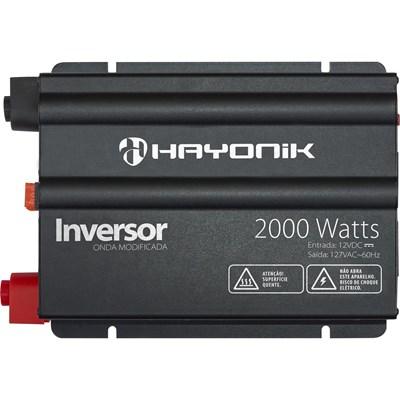 Inversor de 2000W 12V/127V Onda Modificada Hayonik - HAY2000W