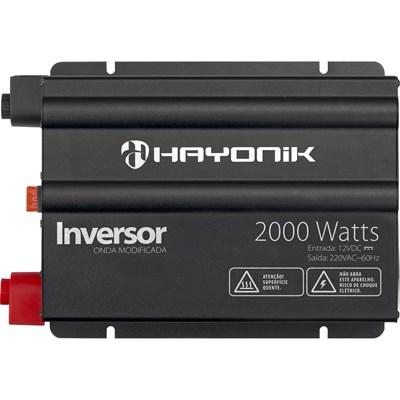 Inversor de 2000W 12V/220V Onda Modificada Hayonik - HAY2000W