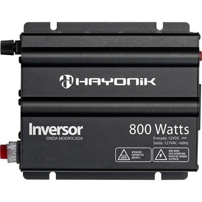 Inversor de 800W 12V/127V Onda Modificada Hayonik - HAY800W