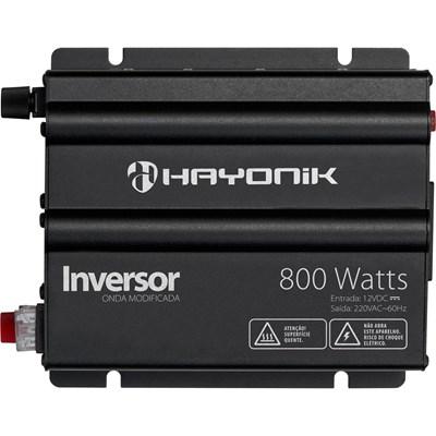 Inversor de 800W 12V/220V Onda Modificada Hayonik - HAY800W