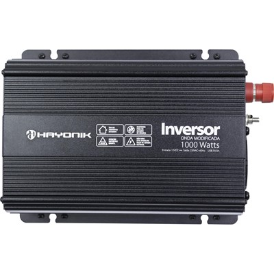 Inversor de tensão 1000W 12/220W Onda modificada Hayonik - PW-HAY1000-12V/220V