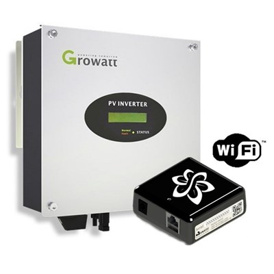 Inversor Grid-Tie 1,5kW Growatt com Monitoramento - 1500-S-220V