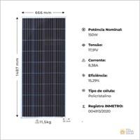 Painel Solar 150W Resun Solar - RS6E 150P