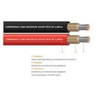 Par de Cabo Solar 6mm Mackflex nas cores Vermelho e Preto – 01 metro