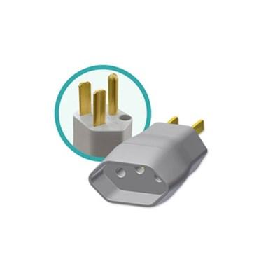 Pino (Plug) Adaptador 2P+T Reverso Bipolar 15A 250V (Par) - ILUMI