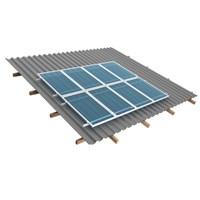 Suporte Painel Solar 2 Módulos de 240W a 365W Telha Ondulada RS225