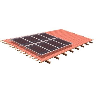 Suporte Painel Solar 4 Módulos de 240W a 330W Telha Cerâmica RS224